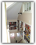 Custom Bookshelves on Stairs